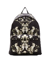 Givenchy Baby's Breath Print Nylon Backpack In Black Floral