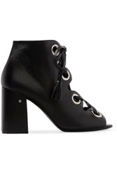 Laurence Dacade Patsy Lace Up Leather Sandals Black