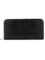 Vince Crocodile Skin Effect Wallet Black