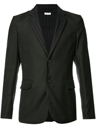 Comme Des Garcons Homme Plus Patterned Two Button Blazer Black
