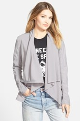 Blanknyc Denim 'Private Practice' Mixed Media Moto Jacket Juniors Gray
