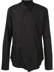 Julius Wrap Shirt Black