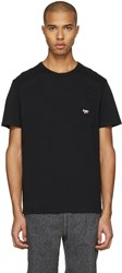 Maison Kitsune Black Fox Patch T Shirt