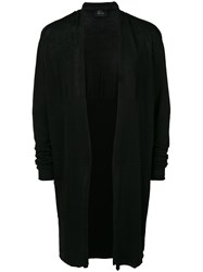 Lost And Found Ria Dunn Oversized Cardigan Cotton Linen Flax Polyamide Black