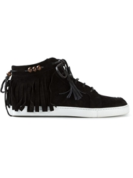 Louis Leeman Fringe Trainers Black
