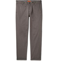 Barena Rampin Slim Fit Cotton Blend Twill Trousers Brown
