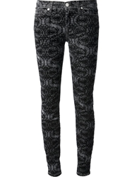 7 For All Mankind Patterned Skinny Jeans Grey