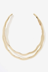 Nasty Gal Do The Wave Collar Necklace