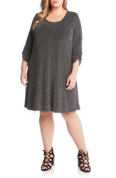 Karen Kane Plus Size Taylor Metallic A Line Dress Silver