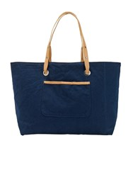 White Stuff Morgan Reversible Canvas Tote Blue