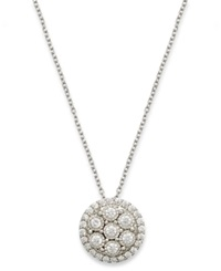 Trumiracle Diamond Cluster Pendant Necklace In 10K White Gold 1 3 Ct. T.W.