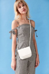 Urban Outfitters Sheryl Saddle Crossbody Bag White