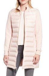 Marc New York Puffer Coat With Puff Knit Sleeves Chablis
