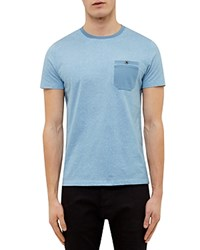 Ted Baker All Over Printed Tee Light Blue