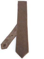 Kiton Nautical Motif Tie Men Cotton One Size Brown