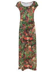 Lygia And Nanny Floral Print Long Dress Red