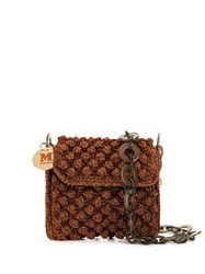 M Missoni Structured Crossbody Bag Brown