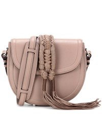 Altuzarra Ghianda Knot Saddle Leather Shoulder Bag Brown