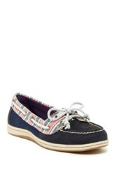 Sperry Firefish Striped Slip On Boat Shoe Blue