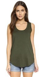 Three Dots Lizzy Long Tank Sweet Fern