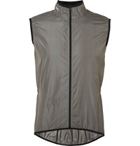 Cafe Du Cycliste Madeleine Windstopper Stretch Jersey Cycling Gilet Gray