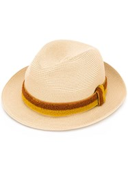 Fendi Hat With Applique Nude Neutrals