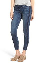 Treasure And Bond Women's Tuxedo Stripe Crop Skinny Jeans