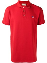 Maison Kitsune Slim Fit Polo Shirt Red