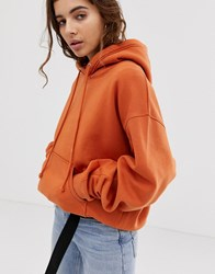 Weekday Hooded Sweatshirt In Orange
