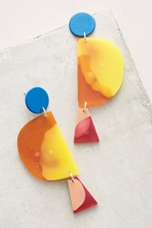Anthropologie Eclipse Earrings Yellow