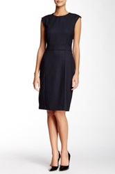 Hugo Boss Denola Wool Blend Dress Blue