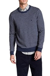 Nautica Long Sleeve Striped Sweater Blue
