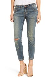 One Teaspoon Women's 'Freebirds' Ripped Skinny Jeans Labyrinth