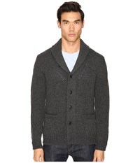 Jack Spade Chunky Shawl Collar Cardigan Gunmetal Men's Sweater Gray