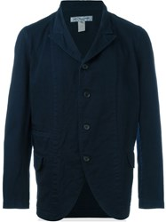 Comme Des Gara Ons Shirt Back Print Denim Blazer Blue