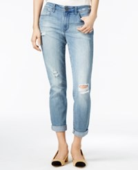 Maison Jules Ripped Light Blue Wash Boyfriend Jeans Only At Macy's Tannis Monte