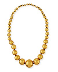 Viktoria Hayman Statement Gold Foil Beaded Ball Necklace 39 L
