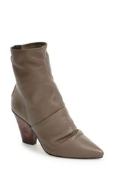 Topshop Slightly Slouchy Pointy Toe Bootie Women Green