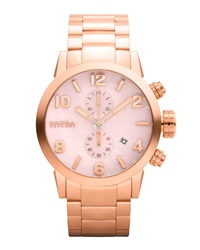Brera 14K Rose Gold Ionic Plated Chronograph Watch Pink