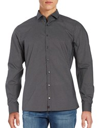 Strellson Subtle Striped Cotton Sportshirt
