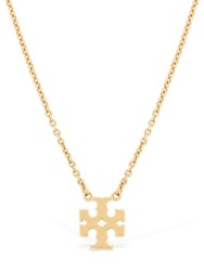 Tory Burch Logo Charm Necklace Gold