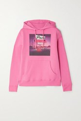 Paco Rabanne Printed Cotton Jersey Hoodie Pink