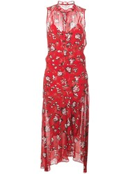 Veronica Beard Sleeveless Floral Print Dress 60