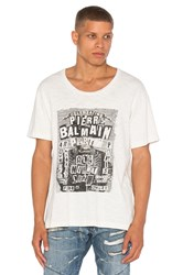 Balmain Graphic Tee White