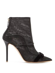 Malone Souliers Claudia Mesh And Leather Ankle Boots Black