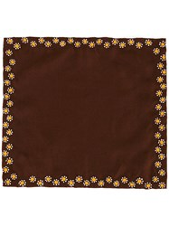 Jupe By Jackie Floral Print Pocket Square Brown