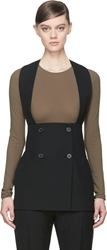 Maison Martin Margiela Stuctured Wool Vest With Buttons
