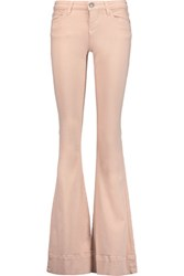 Alice Olivia Ryley Mid Rise Flared Jeans Pastel Pink