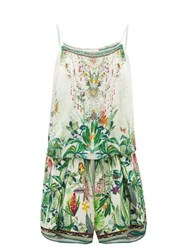 Camilla Daintree Darling Rainforest Print Playsuit White Print