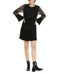 Scotch And Soda Embroidered Sleeve Dress Black